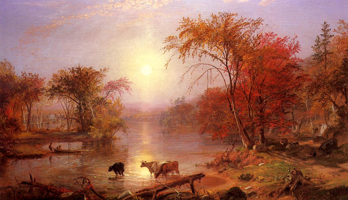 Albert Bierstadt. Indian Summer on the Hudson River.